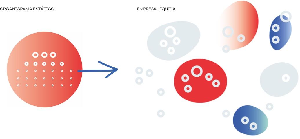 Organigrama estático versus empresa líquida